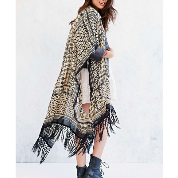 Ecote Other - Urban Outfitters Ecote Patchwork Fringe Duster